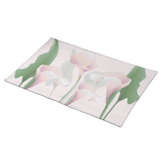 Pink Calla Lily Floral American MoJo Placemat