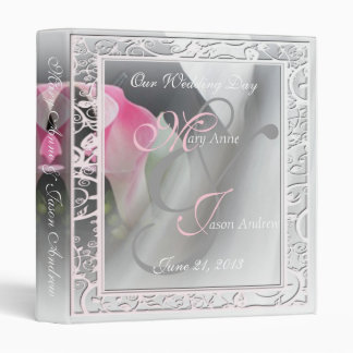 Pink Calla Lily Flourish Frame Wedding Binder