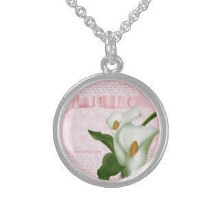 Pink Calla Lily Necklace