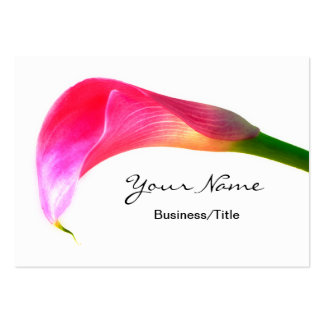 Pink Calla Lily on White Large Business Card