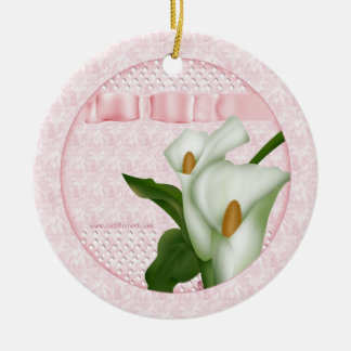 Pink Calla Lily Ornament Gift Tag
