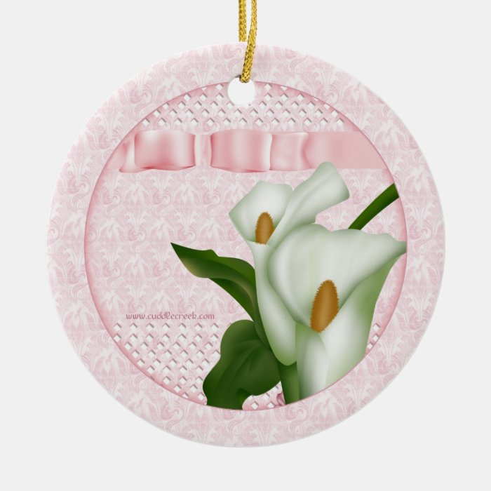 Pink Calla Lily Ornament Gift Tag
