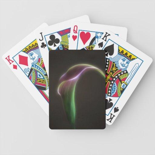 Pink calla lily poker deck
