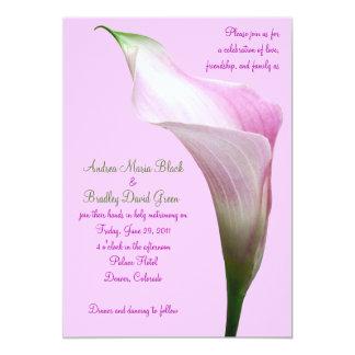 Pink Calla Lily Wedding Invitation