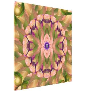 Pink Calla Lotus Mandala Wrapped Canvas