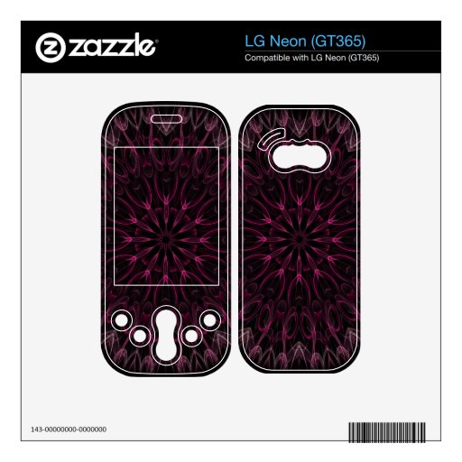 pink calla decal for the LG neon