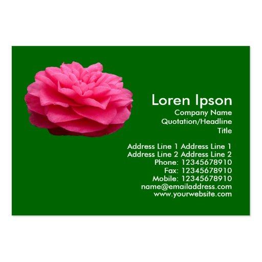 Pink Camelia 3 - Grass Green Large Business Card