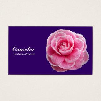 Pink Camelia - Deep Purple 330066 Business Card