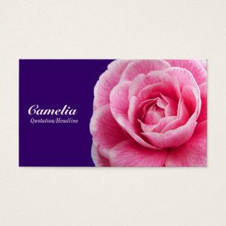 Pink Camelia II - Deep Purple 330066 Business Card