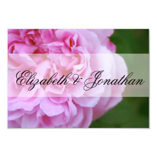 Pink Camellia and Ribbon Wedding RSVP Card