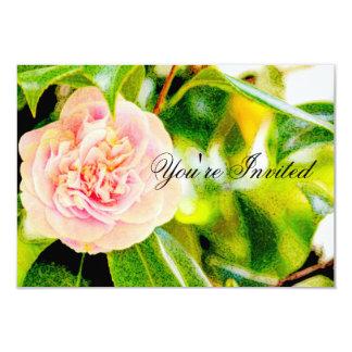 """Pink Camellia Dream  Invitation """"You're Invited"""""""