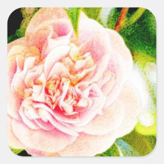 Pink Camellia Dream  Sticker