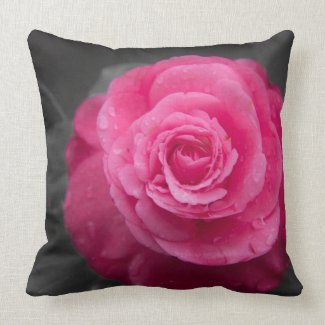 Pink Camellia Flower American MoJo Pillow