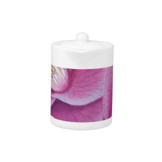 PINK CAMELLIA FLOWER TEAPOT