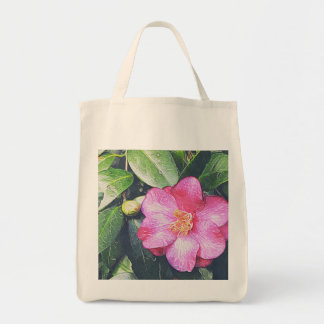 Pink Camellia Grocery Tote