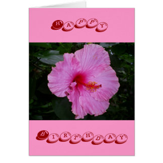 pink camellia happy birthday greeting cards