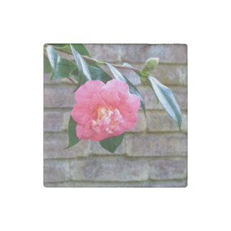 Pink Camellia Marble Magnet Stone Magnet