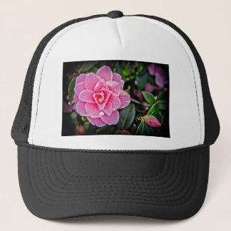 Pink Camellia Trucker Hat