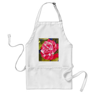 Pink Camellia watercolor flower art painting Adult Apron