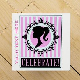 Pink cameo wine gift box