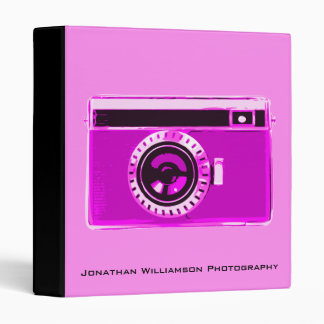 Pink Camera Photography Business Binder