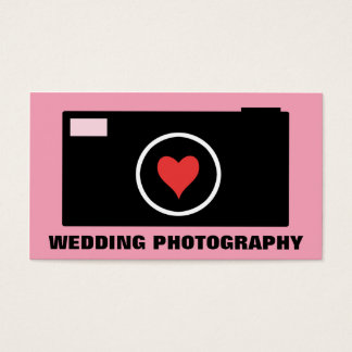 Pink Camera Wedding Photography Business Card