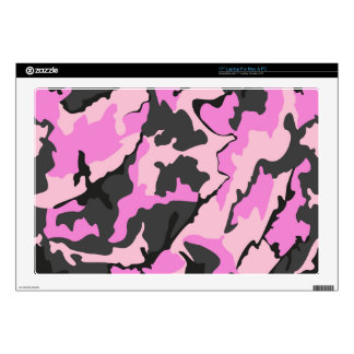 "Pink Camo, 17"" Laptop Skin For Mac & PC"