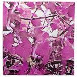 Pink Camo 3 Cloth Napkins
