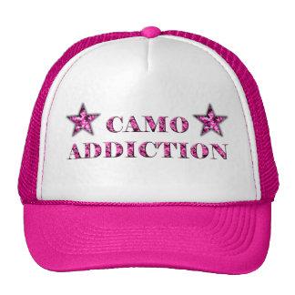 Pink Camo Addiction Trucker Hat