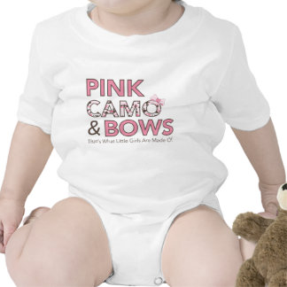 Pink Camo and Bows T Shirt