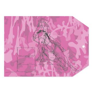 Pink Camo Barrel Racer Card