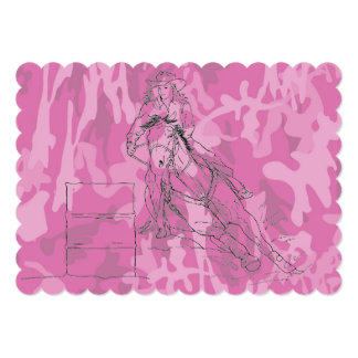 Pink Camo Barrel Racer Card