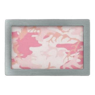 Pink Camo Rectangular Belt Buckles