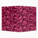pink camo binder