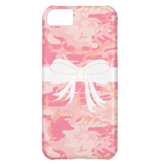 Pink Camo Bow Wrapped iPhone Case Cover For iPhone 5C