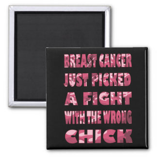 Pink Camo Breast Cancer Magnet