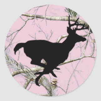 Pink Camo Buck Sticker