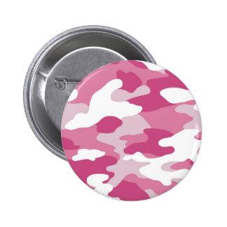 Pink Camo Pinback Button