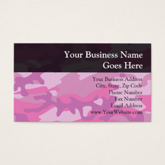 Pink Camo Camoflauge Business Card