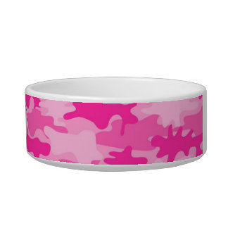 Pink Camo Camoflauge Custom Pet Bowl