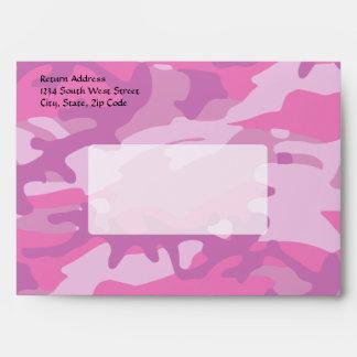 Pink Camo Camoflauge Envelope