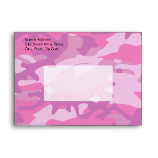 Pink Camo Camoflauge Envelopes