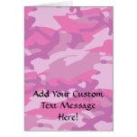 Pink Camo Camoflauge Greeting Card