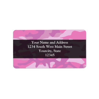 Pink Camo Camoflauge Custom Address Labels