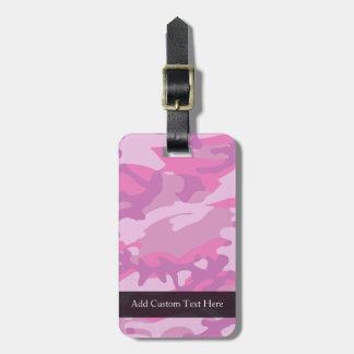 Pink Camo Camoflauge Bag Tags
