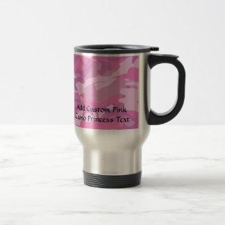 Pink Camo Camoflauge Travel Mug
