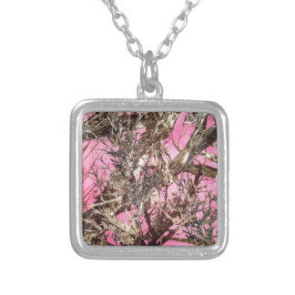 Pink Camo - Camouflage Gifts - Silver Plated Necklace