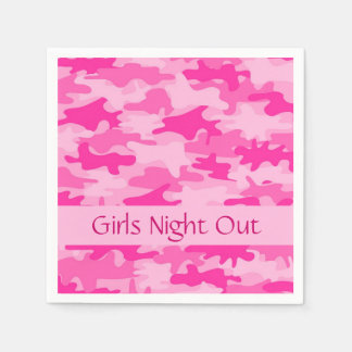 Pink Camo Camouflage Girls Night Out Party Standard Cocktail Napkin