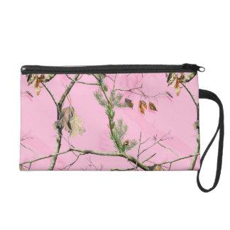 Pink Camo Camouflage Hunt Make Up Bag Tote Purse Wristlet Purse