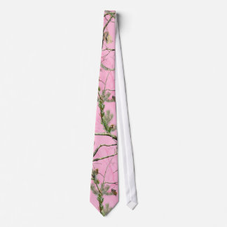 Pink Camo Camouflage Hunting Girl Real Mens Tie
